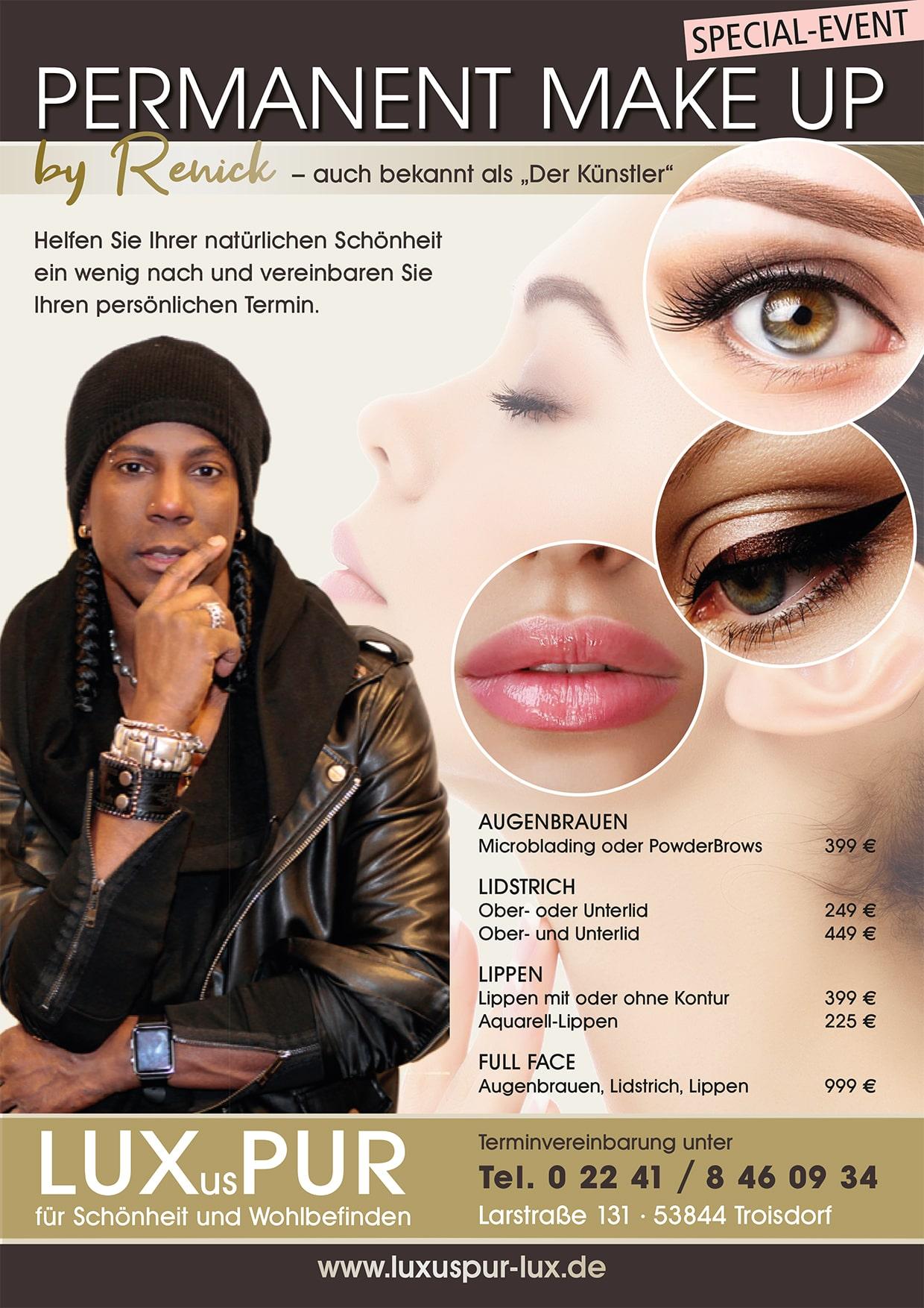 Permanent Makeup mit Renick, der Kuenstler